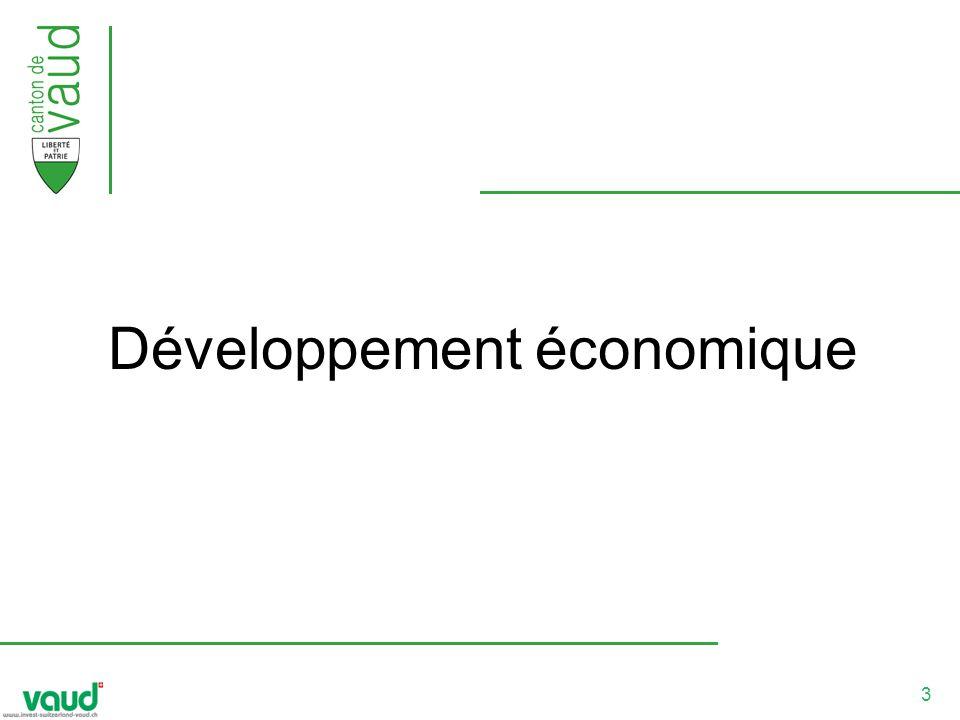 4 Objectifs l accroissement du revenu cantonal, un positionnement au troisième rang de la place économique suisse en terme de vitalité, un rayonnement national et international soutenu.