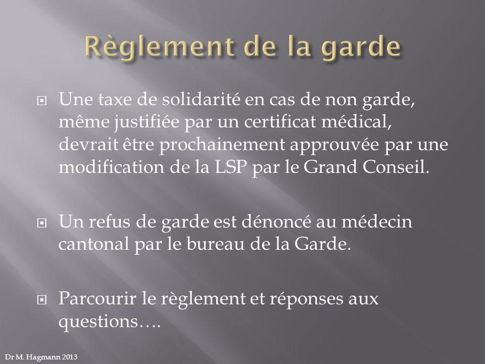 Une taxe de solidarité en cas de non garde, même justifiée par un certificat médical, devrait être prochainement approuvée par une modification de la