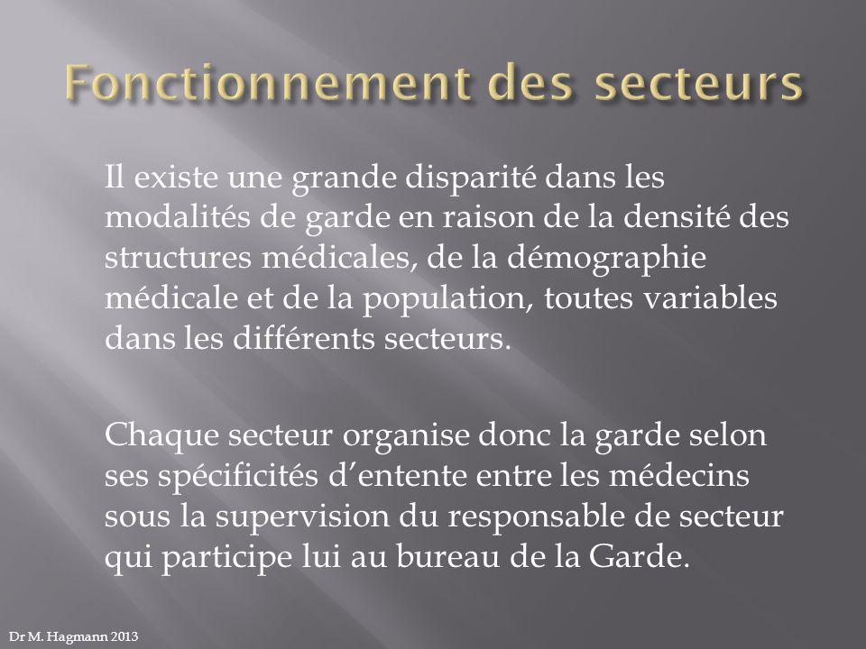 Il existe une grande disparité dans les modalités de garde en raison de la densité des structures médicales, de la démographie médicale et de la popul