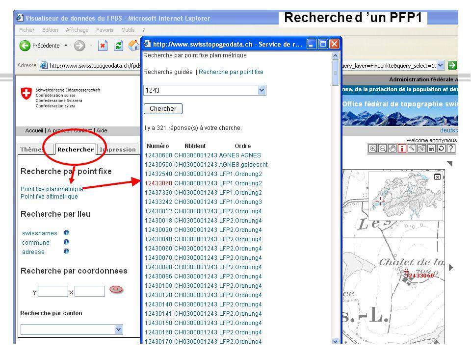 Info FPDS, juillet 2010Page 7OIT DINF-VD Recherche d un PFP1