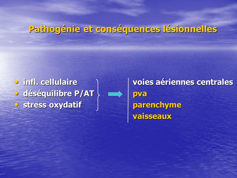 infl. cellulairevoies aériennes centrales infl. cellulairevoies aériennes centrales déséquilibre P/AT pva déséquilibre P/AT pva stress oxydatif parenc