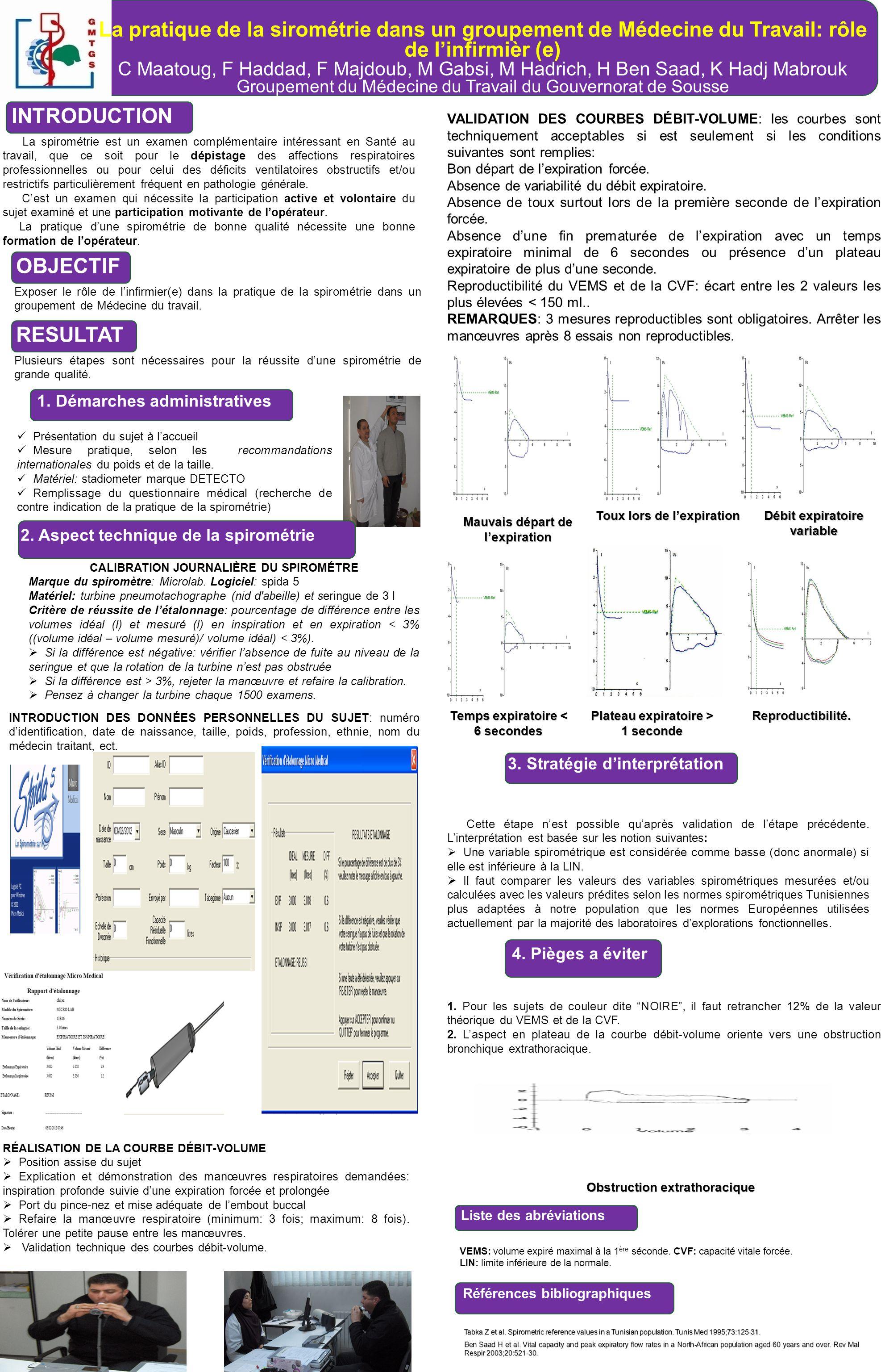 La pratique de la sirométrie dans un groupement de Médecine du Travail: rôle de linfirmièr (e) C Maatoug, F Haddad, F Majdoub, M Gabsi, M Hadrich, H B