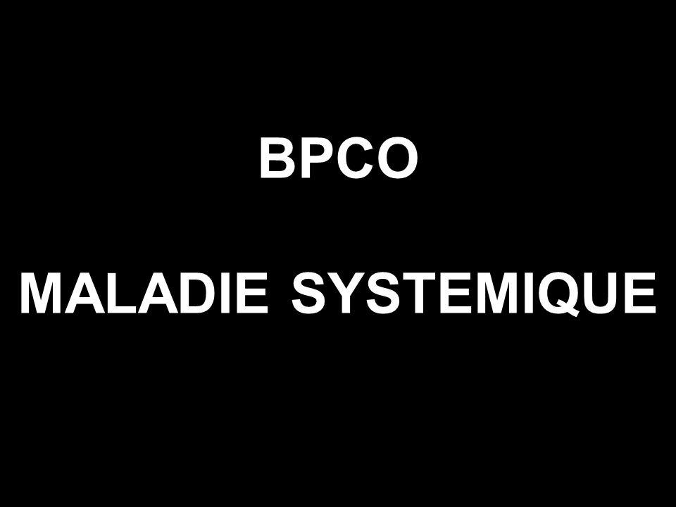 MANIFESTATIONS SYSTÉMIQUES DE LA BPCO Syndrome inflammatoire systémique Amaigrissement Dysfonction musculaire Pathologies cardiovasculaires Ostéoporose Troubles neuro-psychiques Troubles erythropoieses