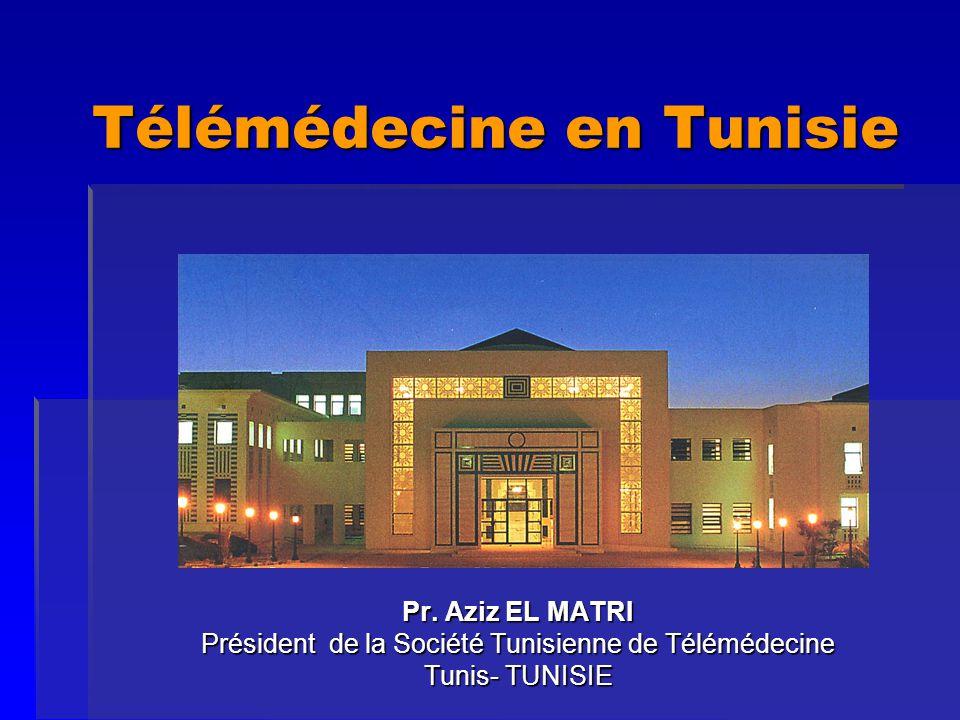 Télémédecine - Tunis - Hammamet 2005 Répartition des sites de Télémédecine HôpitalLiaisonServiceDébutFinancement Enfants - TunisRNISTéléradio1977 MSP APHM (France) C.
