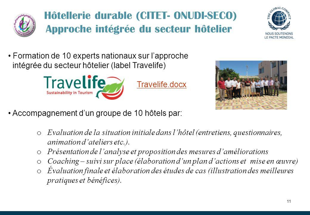 11 Formation de 10 experts nationaux sur lapproche intégrée du secteur hôtelier (label Travelife) Travelife.docx Accompagnement dun groupe de 10 hôtel