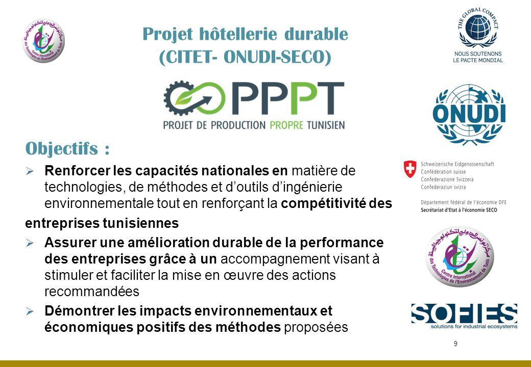 Objectifs : Renforcer les capacités nationales en matière de technologies, de méthodes et doutils dingénierie environnementale tout en renforçant la c