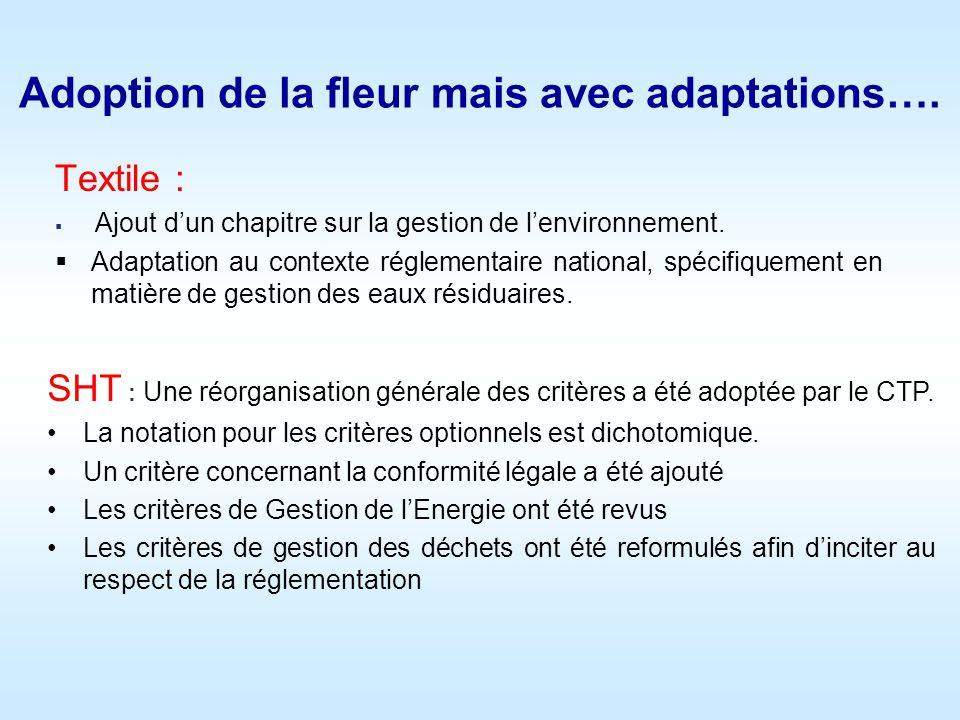 Adoption de la fleur mais avec adaptations….