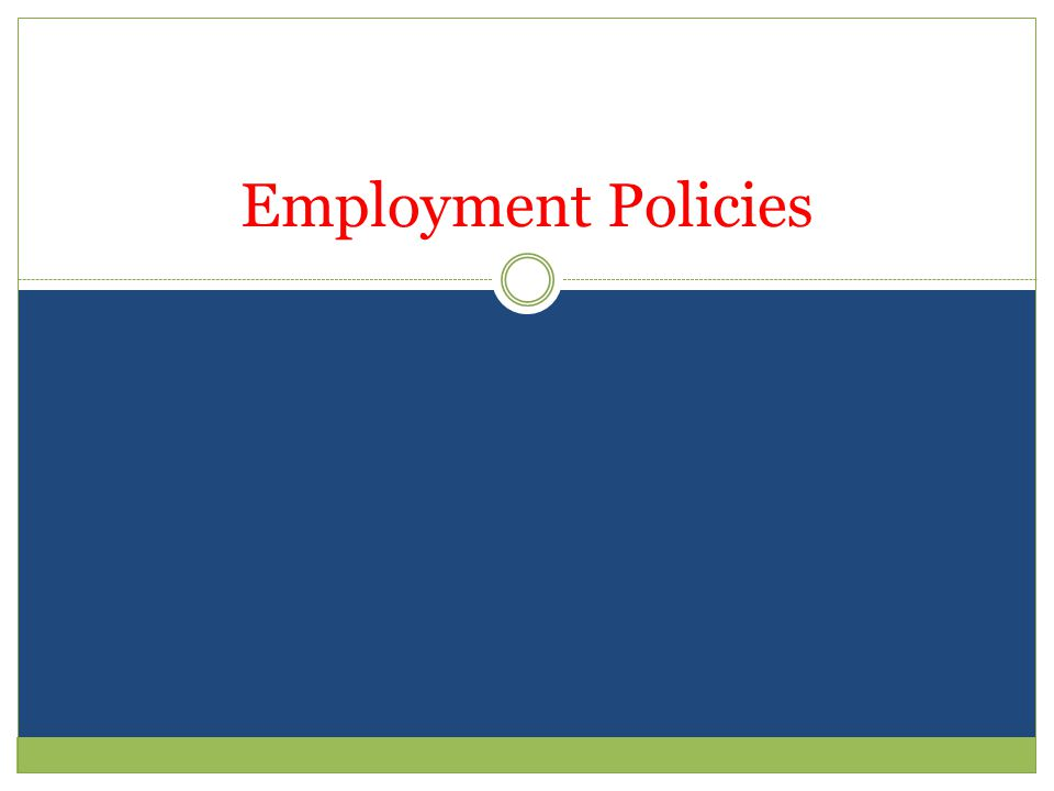 Strategic Prospective is needed for Employment Policies K5