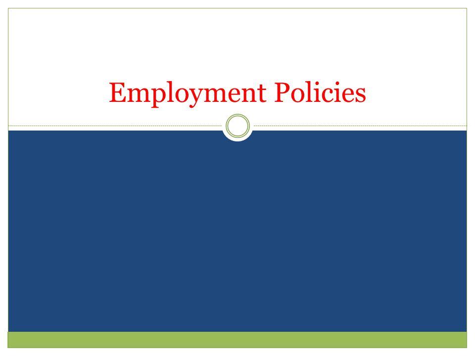 Employment Policies