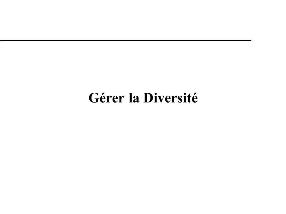 Gérer la Diversité
