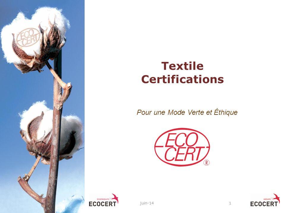 For a Green & Ethical Fashion: A garrantee for a sustainable world Merci de votre attention Imen JAOUADI - Ecocert Tunisie 25 864 004 – imen.jaouadi@ecocert.com Vincent DURET ECOCERT Greenlife – France vincent.duret@ecocert.com vincent.duret@ecocert.com
