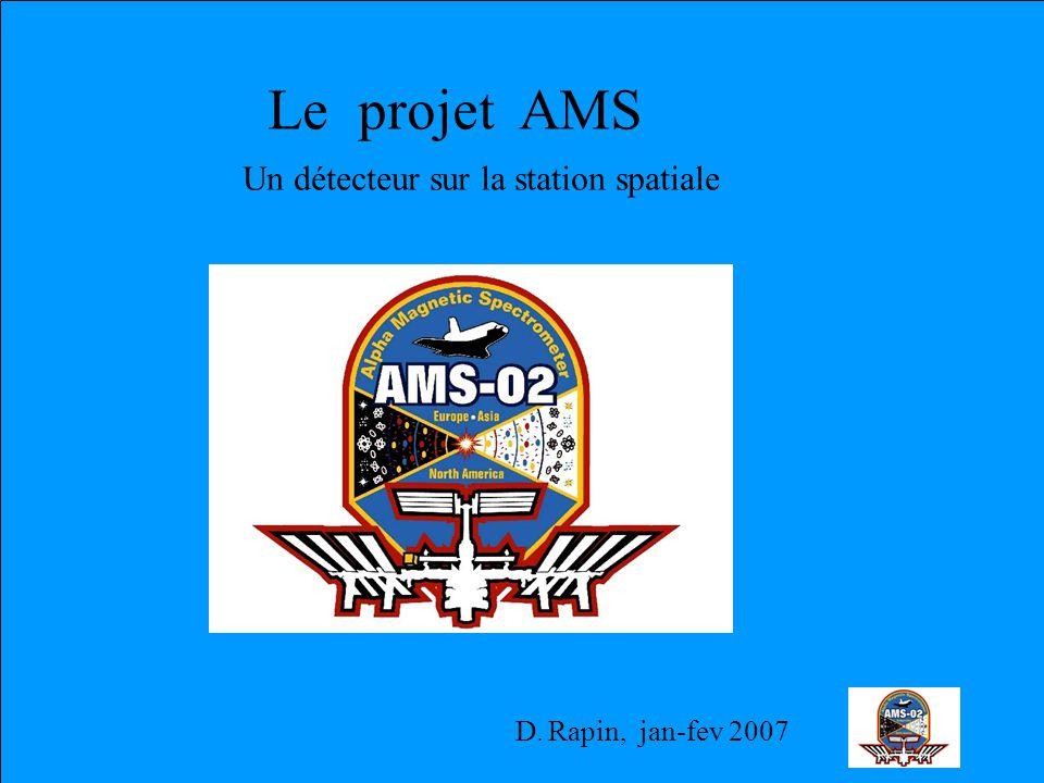 D. Rapin, jan-fev 2007 Le projet AMS Un détecteur sur la station spatiale