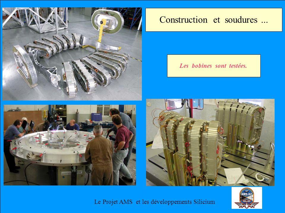 Le Projet AMS et les développements Silicium Construction et soudures... Les bobines sont testées.