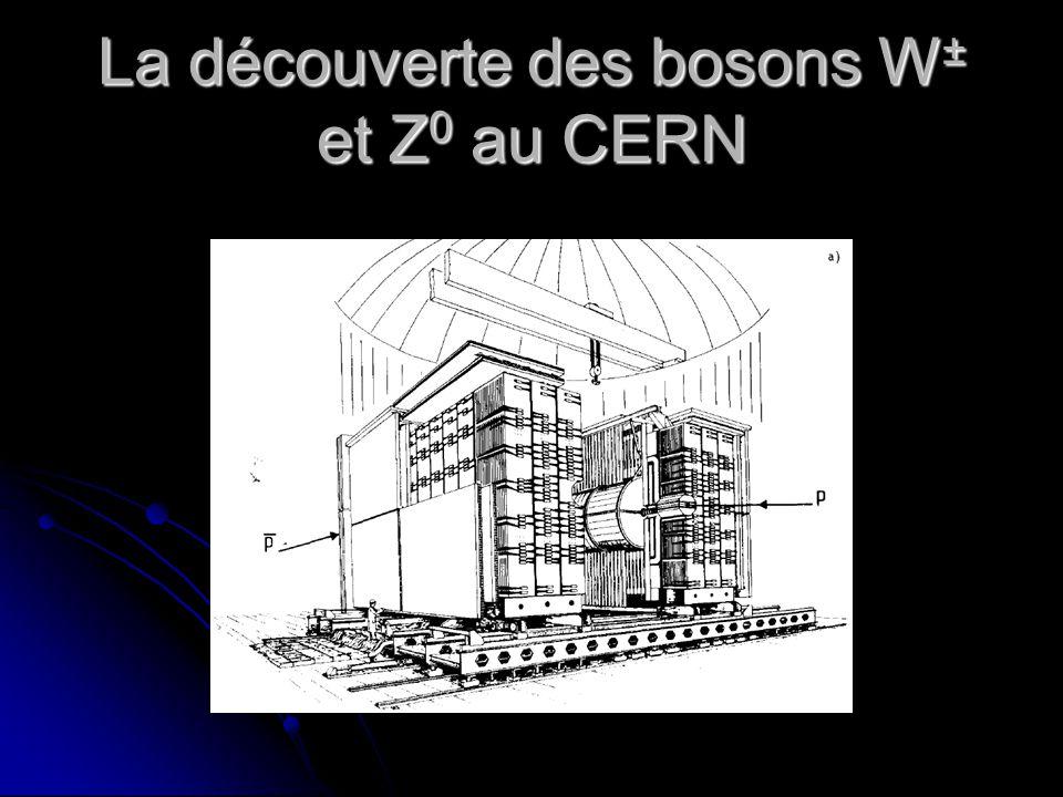 La découverte des bosons W ± et Z 0 au CERN