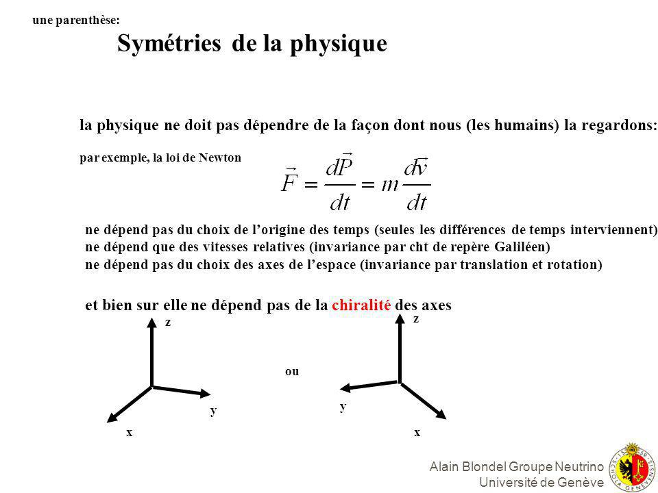 Alain Blondel Groupe Neutrino Université de Genève MATIERE NOIRE -- des trous noirs.