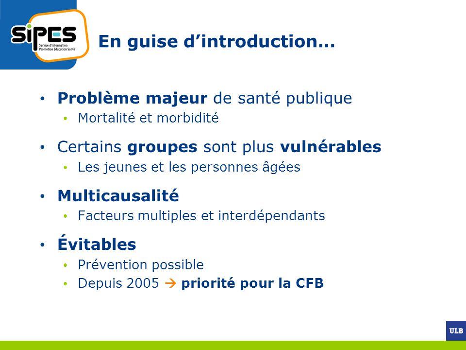 Focus sur le suicide et les traumatismes de la route 1.Mortalité suicidaire Belgique parmi les pays à haut taux de suicide (21/100.000 hbts en 1997.