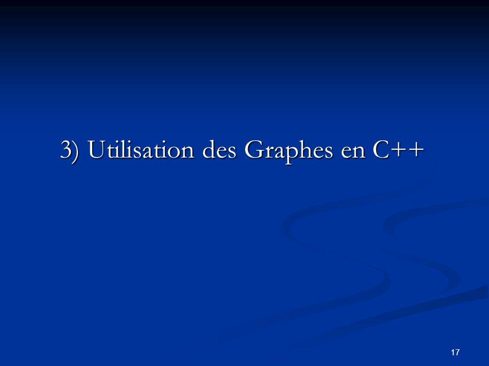 17 3) Utilisation des Graphes en C++