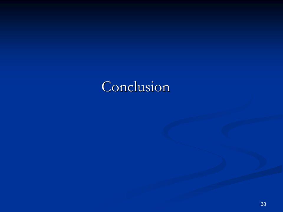 33 Conclusion