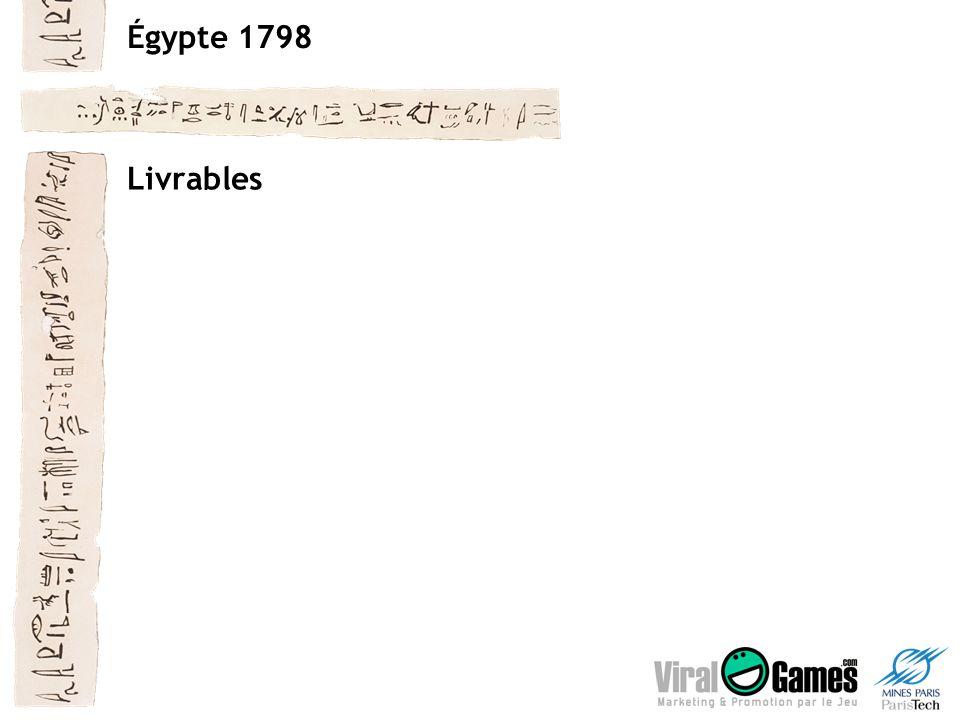 Égypte 1798 Livrables