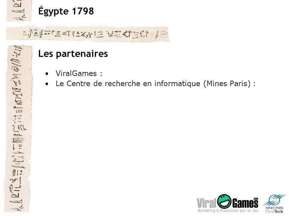 Égypte 1798 Les partenaires ViralGames : Le Centre de recherche en informatique (Mines Paris) :