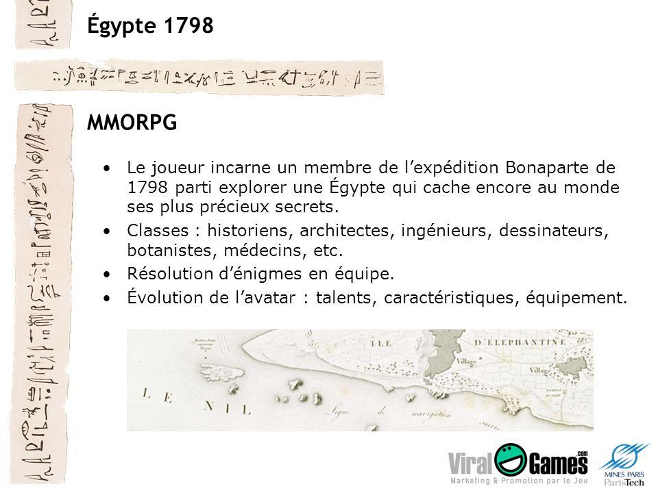 Égypte 1798 MMORPG Le joueur incarne un membre de lexpédition Bonaparte de 1798 parti explorer une Égypte qui cache encore au monde ses plus précieux