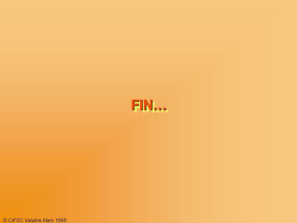 © CIFSC Valabre Mars 1998 FIN…FIN…