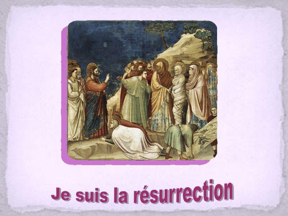 Nous te louons et nous te bénissons, Seigneur Jésus, toi qui as écouté la prière de Marthe et Marie et as ressuscité leur frère Lazare. Nous te louons