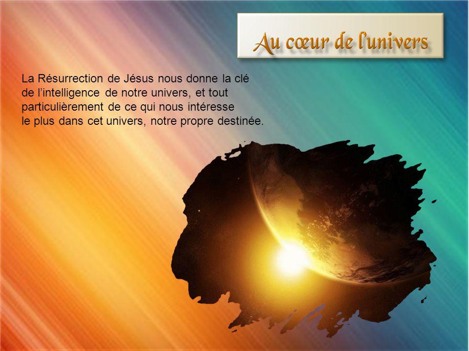 La Résurrection de Jésus est la clé de linterprétation des Écritures en même temps que de la compréhension de lensemble de lhistoire dIsraël.