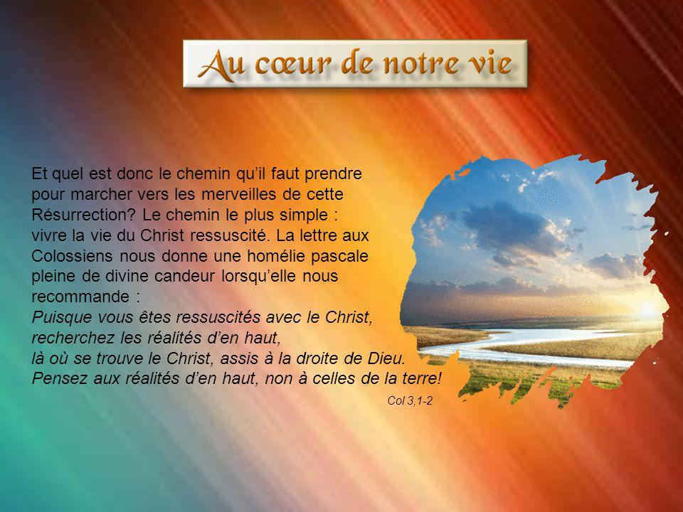 Paul décrit merveilleusement cet univers enfanté par la résurrection de Jésus.