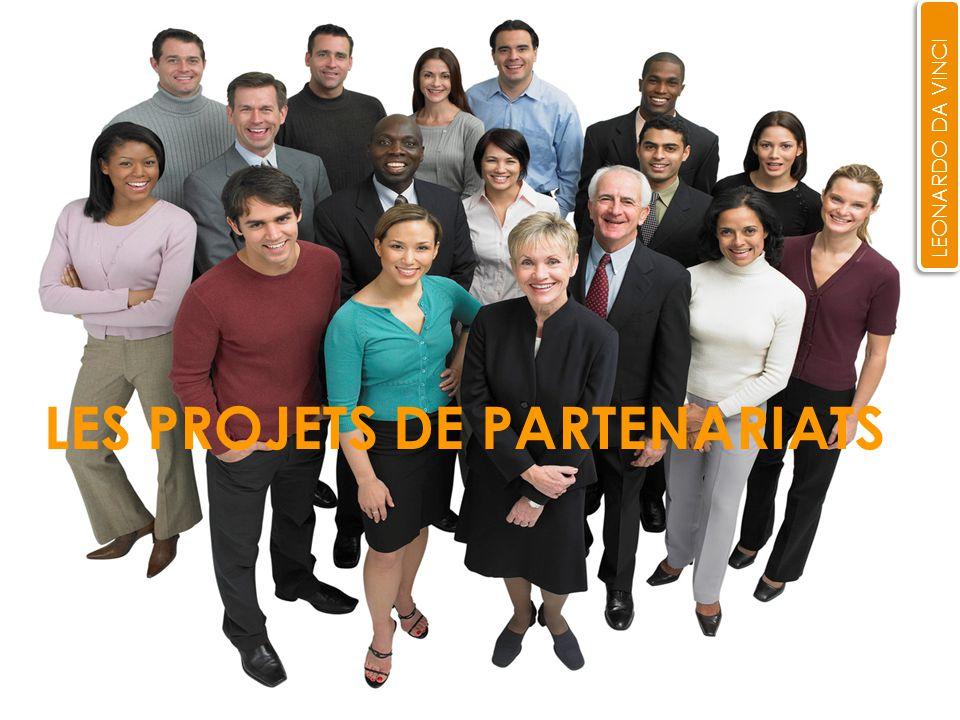 LES PROJETS DE PARTENARIATS LEONARDO DA VINCI