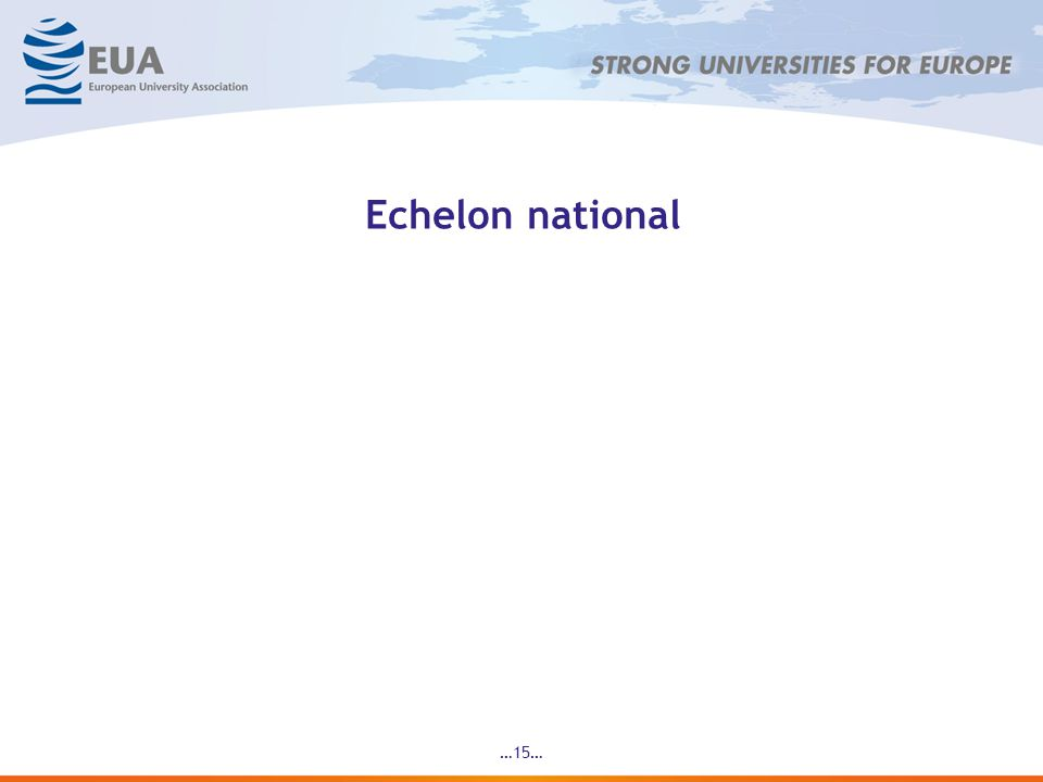 Echelon national …15…