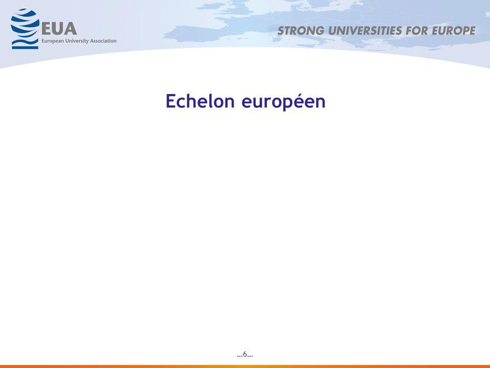 …7… Léchelon européen: Références et lignes directrices Adoptées à Bergen (2005) 3 référentiels : Référentiel 1 : concerne les institutions Référentiel 2 : concerne les agences Référentiel 3 : concerne lévaluation des agences Les grands principes : Lévaluation interne, pierre dangle de lédifice Lévaluation externe indépendante, condition de la crédibilité (A noter : lagence doit évaluer la mise en œuvre du référentiel 1, concernant les institutions) Les agences doivent se soumettre à une évaluation de leurs activités