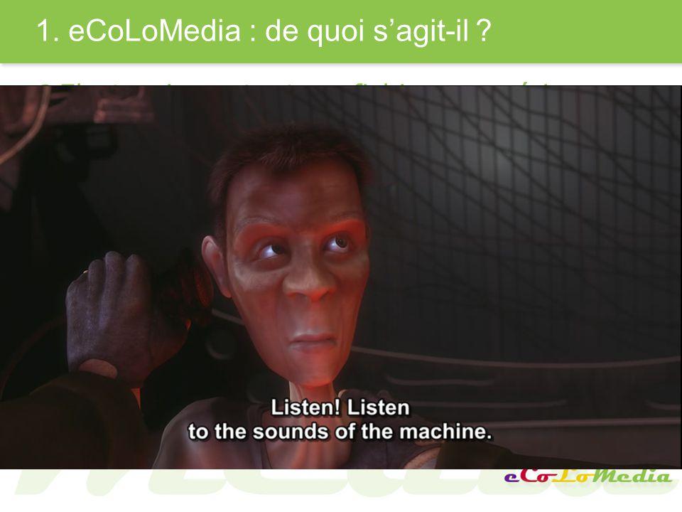 1.eCoLoMedia : de quoi sagit-il .