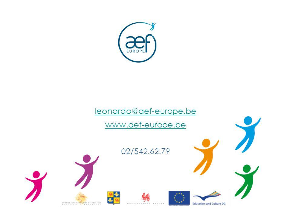 leonardo@aef-europe.be www.aef-europe.be 02/542.62.79