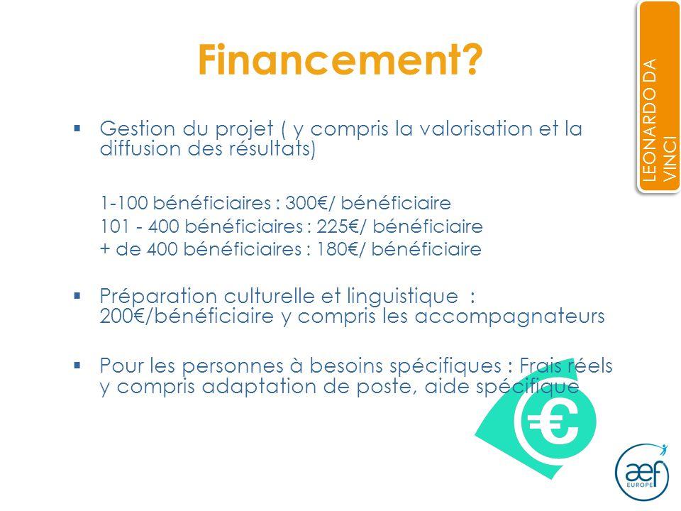 Financement.