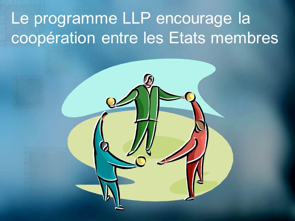 Le programme LLP encourage la coopération entre les Etats membres