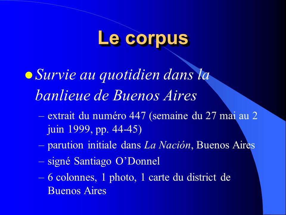 Le corpus l Survie au quotidien dans la banlieue de Buenos Aires –extrait du numéro 447 (semaine du 27 mai au 2 juin 1999, pp. 44-45) –parution initia