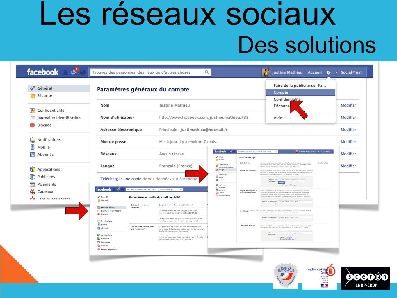 Les réseaux sociaux Des solutions