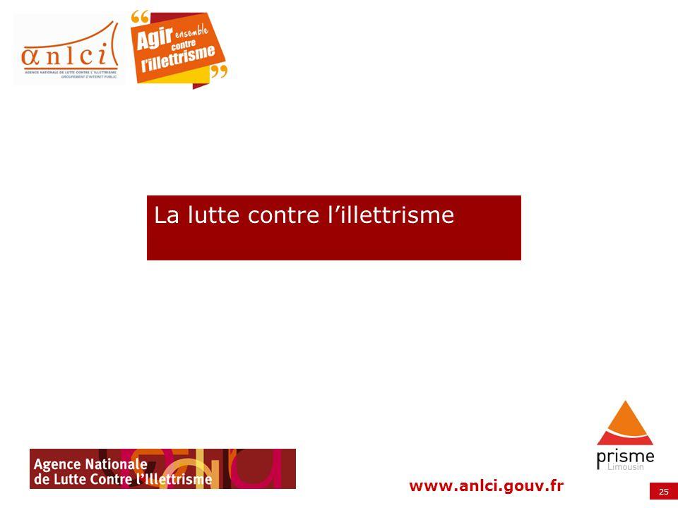25 www.anlci.gouv.fr La lutte contre lillettrisme