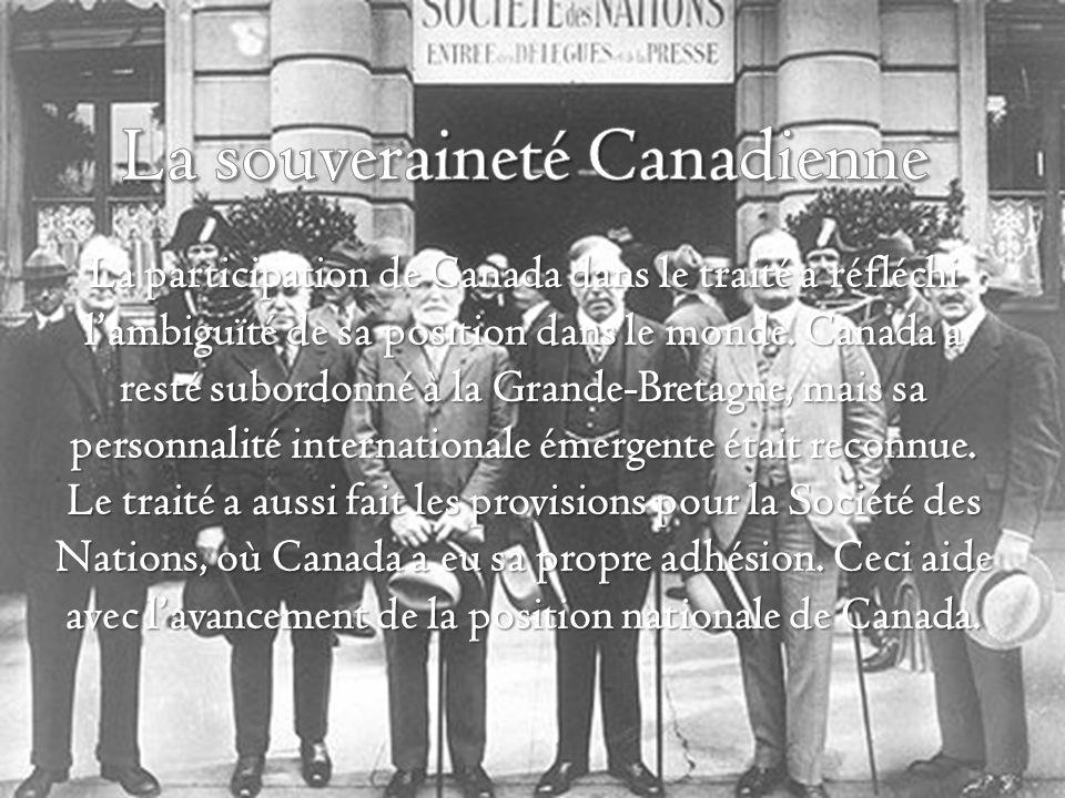 La participation de Canada dans le traité a réfléchi lambiguïté de sa position dans le monde.