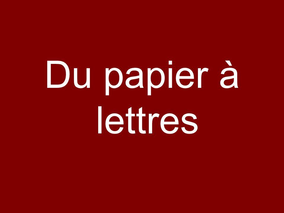 Du papier à lettres
