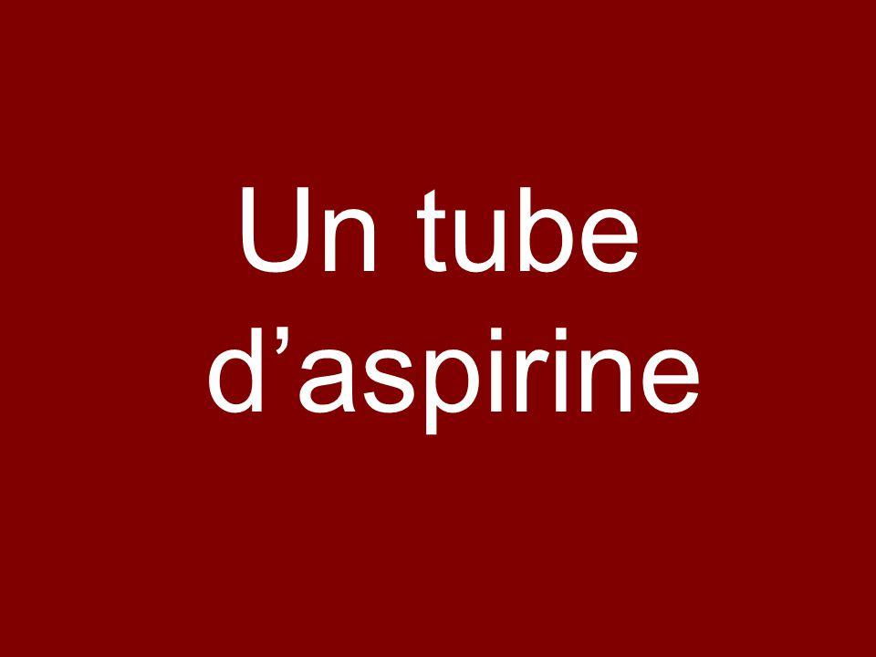 Un tube daspirine