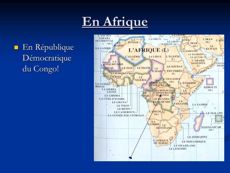 En Afrique En République Démocratique du Congo! En République Démocratique du Congo!