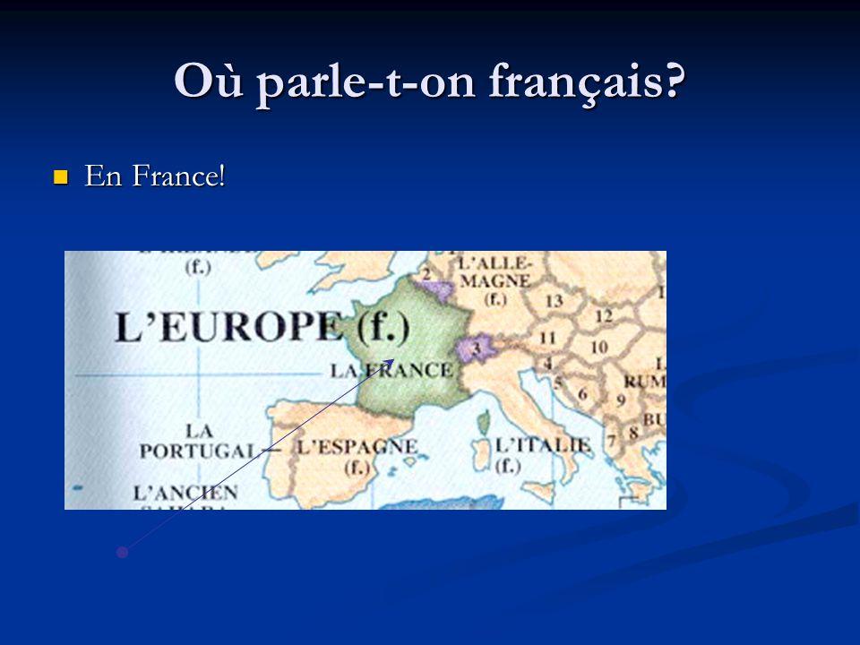 Où parle-t-on français? En France! En France!