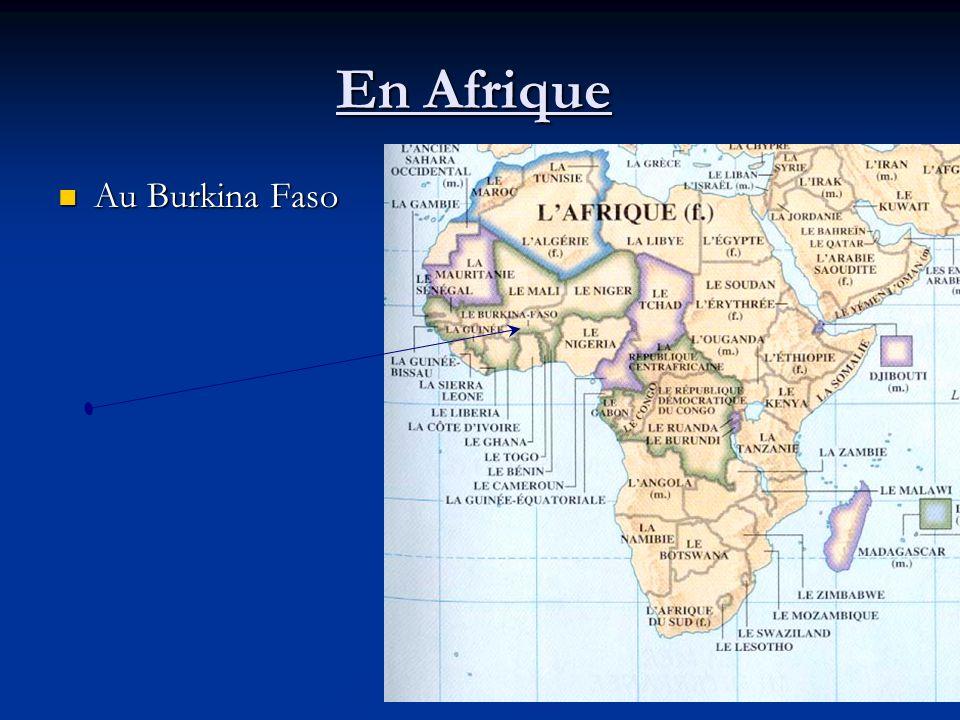 En Afrique Au Burkina Faso Au Burkina Faso