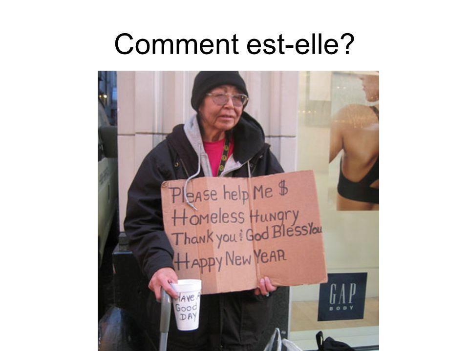 Elle est pauvre