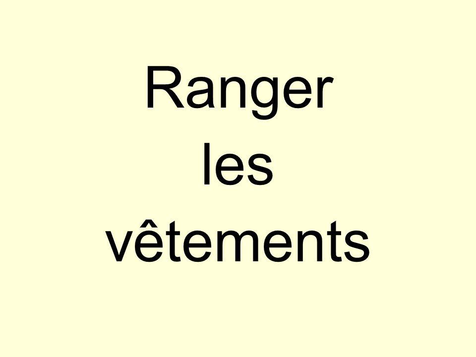 Ranger les vêtements