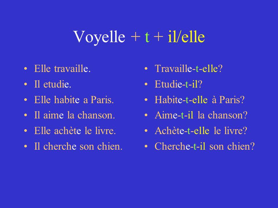 Changez les phrases aux questions 1) Tu parles italien.