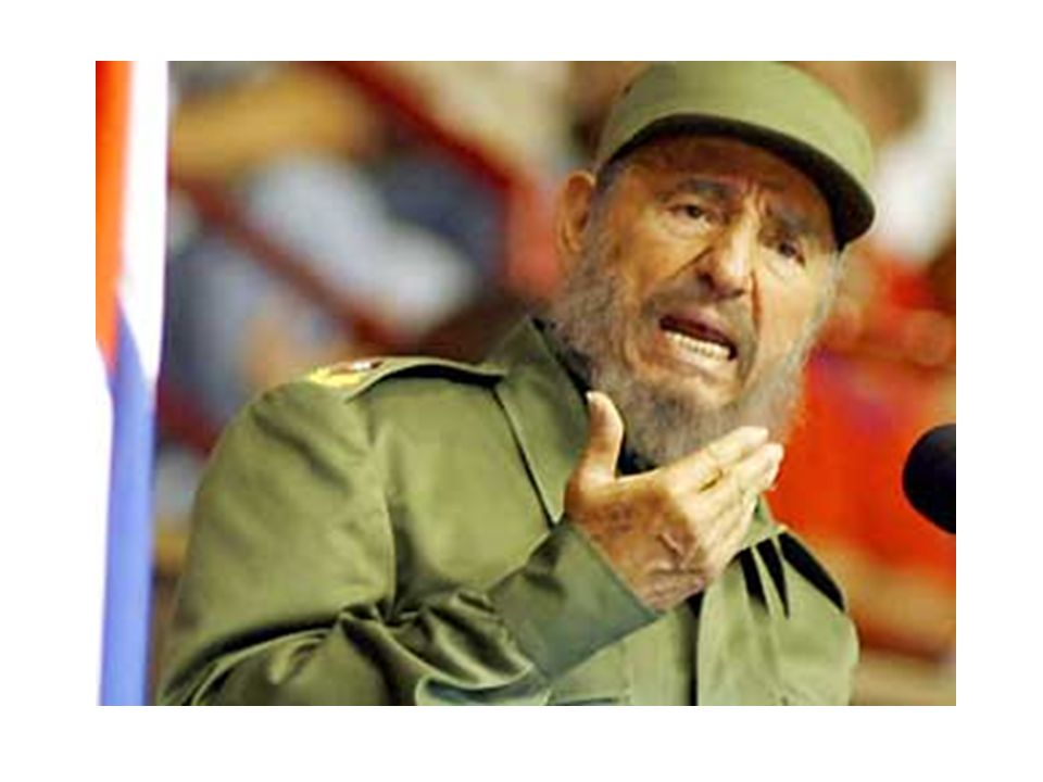 Il sappelle Fidel Castro. Il est cubain.