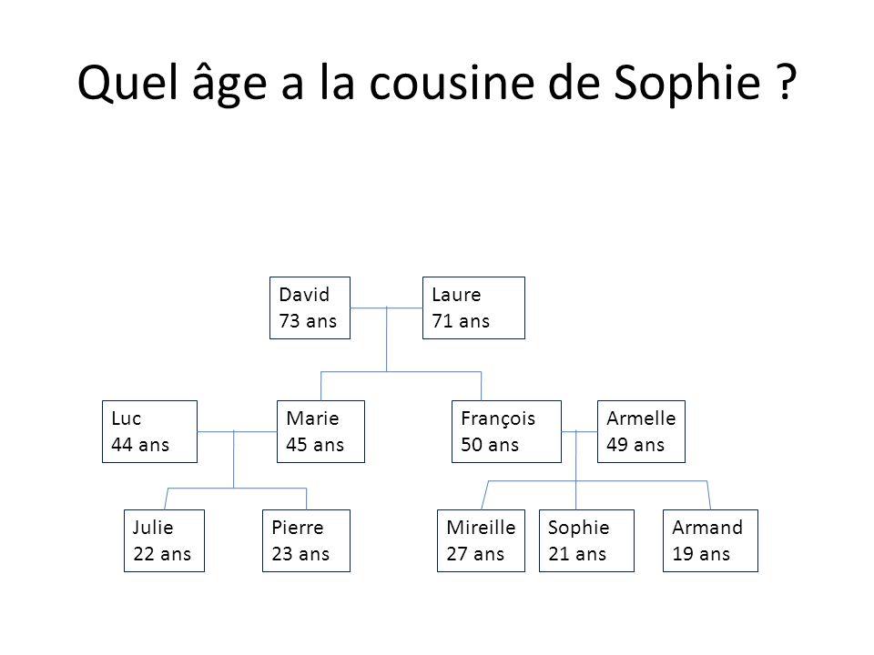 Quel âge a le père de Julie .